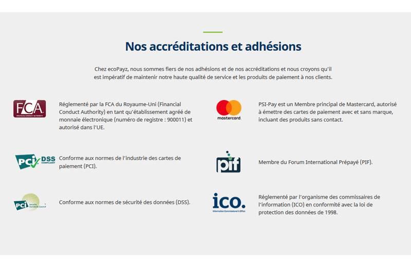 Certifications du l'offre